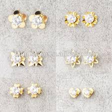 design of earrings new 2016 gold earring design stainless steel zirconia