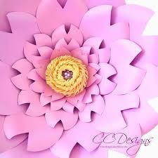paper flower template paper flower wall diy paper flower