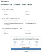 quiz u0026 worksheet pocahontas history u0026 facts study com