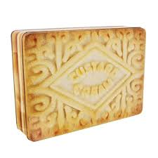 new custard cream rectangle storage tin cake biscuit baking