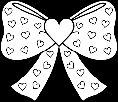 terrific hearts with bows coloring page with girly coloring pages