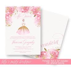 quinceañera invitation gold quinceañera invitation princess