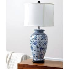 Small Blue Desk Lamp Abbyson Hand Painted Asian Blue Table Lamp Free Shipping Today