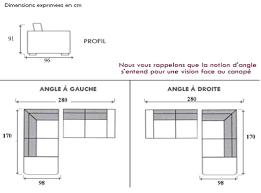 hauteur canapé dimension canape d angle firstcdiscount