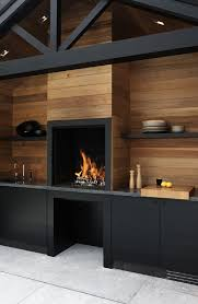 black and wood bbq area design ideas for summer outdoortheme com
