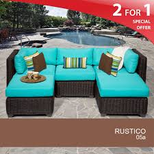 Turquoise Patio Furniture by 5 Piece Patio Furniture Outdoor Rattan Wicker Furniture