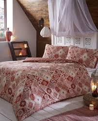 duvet cover set moroccan style terracotta geometric quilt cover