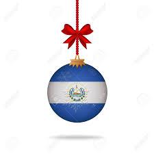 Flag El Salvador Ilustration Christmas Ball Flag El Salvador Royalty Free Cliparts