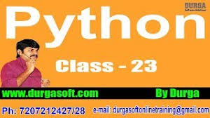 online tutorial of python learn python programming tutorial online training by durga sir on 25
