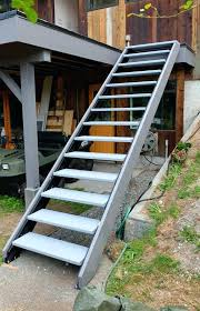 exterior staircase kits steel staircase with stainless mesh on the