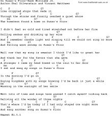 Light One Candle Lyrics Country Music On Susan U0027s Floor Hank Williams Jr Lyrics And Chords