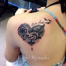 lace tattoo heart on pinterest lace tattoo lace butterfly tattoo