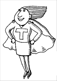 english super teacher coloring page wecoloringpage