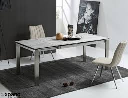 glass furniture the slate grey ceramic glass top table expand furniture