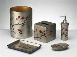 cherry blossom japanese themed bathroom accessories tsc