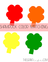 st patrick day crafts shamrock color match