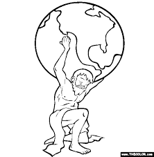 coloring nice greek gods drawings mythology roman coloring