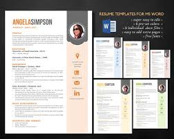 Template For Resume In Word Stylish Word Photo Resume Templates Resume Templates Creative