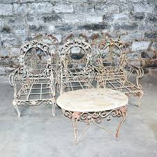 vintage wrought iron patio furniture creekmore