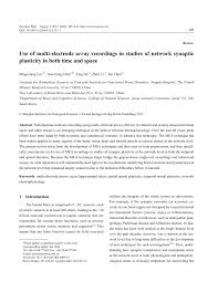 use of multi electrode array recordings in studies of network