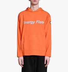 ef ef industries l luker by neighborhood e f c hooded ls orange pullover