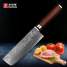 online get cheap patterned kitchen knife aliexpress com alibaba sunlong 67layers damascus steel kitchen knife pattern steel slice knife cleaver melaleuca steel chef knife vegetable