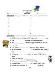 english teaching worksheets vocabulary quiz