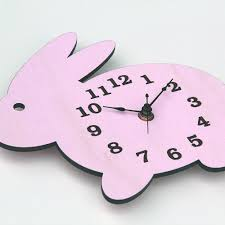 Bunny Rabbit Home Decor Wall Clock Modern Wooden Bunny Rabbit Silhouette Home Decor With