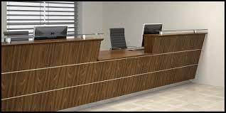 Maple Reception Desk by Bespoke Veneer Reception Desk