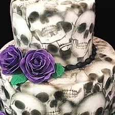 halloween cake stencils skull seamless mesh stencil
