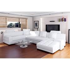 canape cuir vachette canapé cuir de vachette blanc ff8568 achat vente canapé sofa