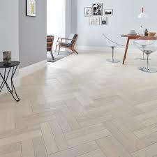 Goodrich Whitened Oak Parquet Flooring Woodpecker Flooring - Herringbone engineered wood flooring