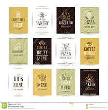 bakery cafe bistro logo set stock vector image 55456891