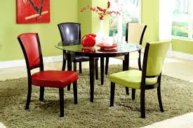 Metal Kitchen Chairs Bathroom Scenic Colourful Dining Table And Chairs Colorful