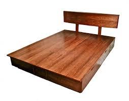 Bed Platform With Drawers Manly Bordeaux Platform Bed Raised Panel Footboard Bordeaux