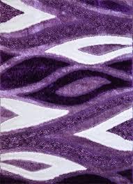 Modern Purple Rug Royal Collection Beige Brown Flames Design Area Rug 6028