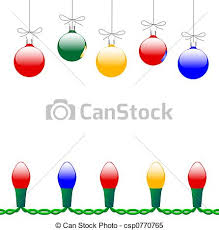 stock illustrations of merry ornaments light string