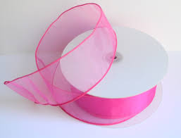 ribbon with wire pink two toned organza ribbon with wire 50 yards 150 ft