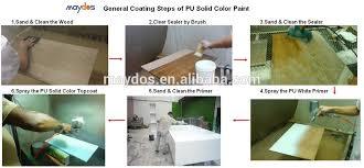 wood mdf cabinet coating pu spray paint color paint foshan shunde