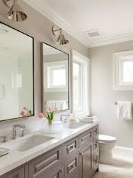 Grey Vanity Bathroom by Before And After Small Bathroom Makeovers Big On Style Double
