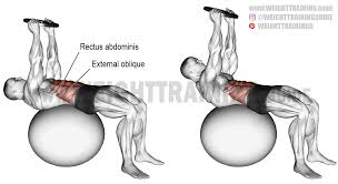 weighted stability ball crunch instructions and video