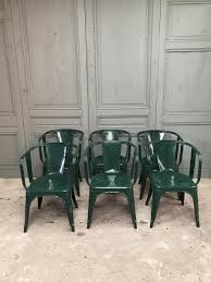 Antique Armchairs Vintage Armchairs By Xavier Pauchard For Tolix Set Of 6 For Sale