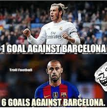 Barca Memes - fly emirates 1goal against barcelona troll football 6 goals