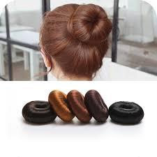 elastic hair band hairstyles 2017 1pc plate hair donut bun maker magic foam sponge hair styling