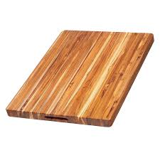 Countertop Cutting Board Amazon Com Teak Cutting Board Rectangle Carving Board With Hand
