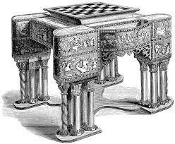 Chess Table Chess Table Clipart Etc