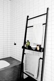 bathroom ladder shelf target pottery barn bathroom on a budget