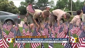 American Legion Flag Boy Scouts American Legion Plant Flags At Cvg Youtube