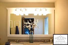 frame bathroom mirror with crown molding best bathroom decoration