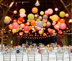 12 30cm paper lanterns with led lights shiny